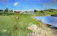Oil William Merritt Chase - Shinnecock Hills from Canoe Place, Long Island