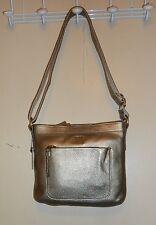 Fossil Mini Genuine Leather Crossbody Handbag Gold SHB1068710 NWT