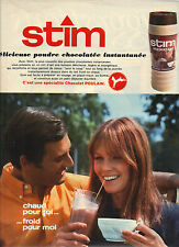 PUBLICITE  1968     STIM  poudre chocolatée