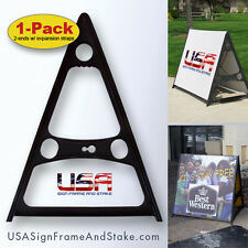 """A-Frame Sidewalk Sign Frame - 18""""x24"""" to 36""""x60"""" - Expandable - Won't Rust"""