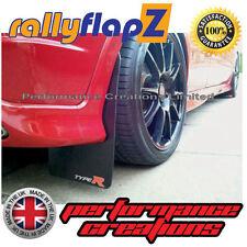 Mudflaps rallyflapZ HONDA CIVIC TYPE R FN2 2007-2010 Black Logo Silv/Red 4mm PVC