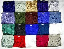 "Mens Thai Silk Boxer Shorts Underwear / 36""-39"" Pick Colours / 5 Sets FREE POST"