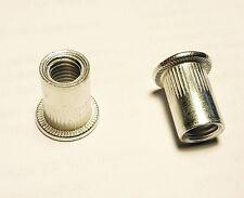 "Qty 50 1/4""-20 UNC Large Flange Nutserts Aluminium  Rivnut Nutsert Aluminum"