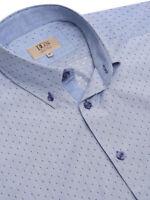 DG's DRIFTER Size M/L Cotton Blend SHORT SLEEVE LILAC SHIRT RRP £36 15501SS/72