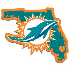 Miami Dolphins Vinyl Home State Pride Decal [NEW] NFL Auto Car Truck Window