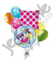 7 pc Summer Cool Picnic Pinwheel Balloon Bouquet Party Decoration Luau Beach