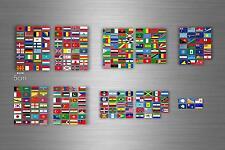 252x adesivi sticker bandiera paese mondo stati scrapbooking collezione r2