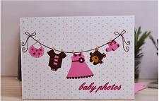 DIY 25 Pages 2-Ring Binder BABY Scrapbook Album Wedding Guest Book Baby Show