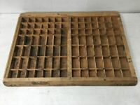 Beautiful Vintage Wooden Printers Tray - Letterpress / Shadowbox - Industrial