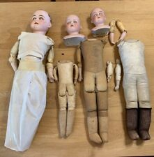 Antique Doll Bodies, German Heads, 1 Doll, Poor To Good Condition-Tlc Or Parts