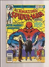 THE AMAZING SPIDER-MAN #185 VF+ 8.5 PETER GRADUATES! *BRONZE AGE* 1978