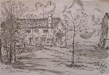 Bauernhaus - Bild monogrammiert FRS datiert 60