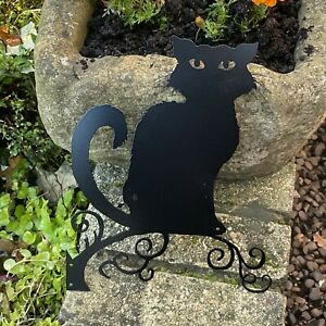 Halloween Black Cat - Metal Wall Art