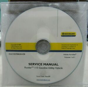 NEW HOLLAND RUSTLER 115 GASOLINE UTILITY VEHICLE SERVICE MANUAL  CLC103700630-CD