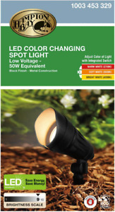 Hampton Bay 9.8-Watt Millennium Black Adjustable Light Color Outdoor Integrated