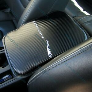 X1 For JAGUAR Carbon Fiber Car Center Console Armrest Cushion Mat Pad Cover New