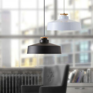 Modern Pendant Light Shop Ceiling Light Wood Black Chandelier Lighting Bar Lamp