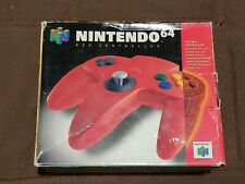 Official Nintendo 64 N64 Controller Red In Box Works