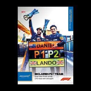 14k FB No Cancel Lando Norris Ricciardo 2021 Topps Now Formula 1 F1 Card #52