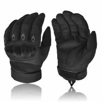 MENS BLACK MILITARY COMBAT TACTICAL GLOVES HARD KNUCKLE ARMY