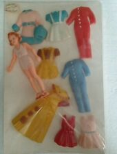 "Vintage 1940's Plastic Doll With Snap On Clothes ""Rare Find!"""