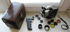 NEVA 2x8mm HEBA Rare Russian Turret Movie Camera KIT EXCELLENT