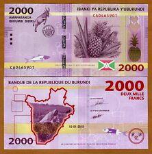 Burundi, 2000 Francs, 2015, P-New, UNC > New Design > Goat