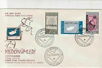 Turkish Federated Cyprus 1980 Yildonumleri Anniversary FDC Stamps Cover Ref23626