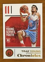 2018 18-19 Panini Chronicles Trae Young Rookie RC #94, Atlanta Hawks