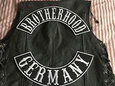 Brotherhood Germany Patch Banner XL Set je 39x8,7 cm Biker Kutte MC ohne Kutte