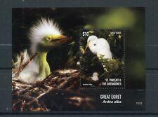 St Vincent & The Grenadines 2015 MNH Great Egret 1v S/S I Birds Egrets