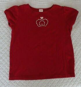 Gymboree 9 Girls Shirt Crown Red Short Sleeve VGUC