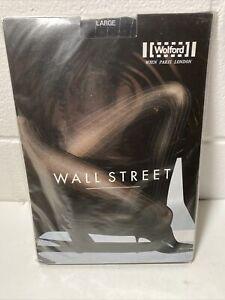 Wolford 17010 WALL STREET 9569 Black/White Large LG L Strumpfhose pantyhose
