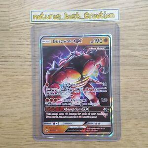 MINT/NM Condition Buzzwole GX 57/111 Holo/Shiny Pokemon Card, Sun & Moon, Rare