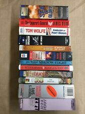 12 Mixed Lot Cassette Audiobooks Action & Adventure, War, Mutiny, Armed Forces
