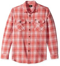 OBEY Men's SHRINER Woven L/S Flannel Shirt - Rose Multi - Small - NWT