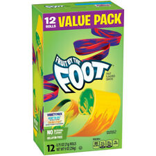 NEW FRUIT BY THE FOOT FRUIT FLAVORED SNACKS 12 ROLLS VALUE PACK 9 OZ VARIETYPACK