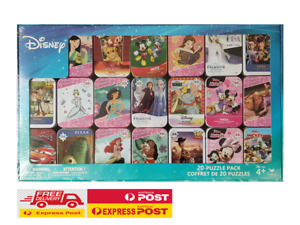 Free Express Shipping DISNEY 20-Puzzle PACK in Tins - NEW & SEALED