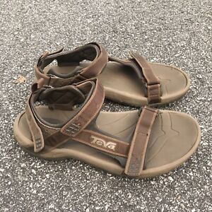 Teva minam brown sandals strappy hiking shoes mens size 10