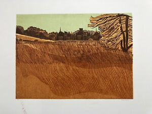 ROBERT TAVENER R.E. 1920-2004 Artist Proof LINOCUT Dillington House, Somerset