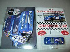 Autograph 25 Ricky Craven Spee Dee NASCAR Diecast stockcar 1991 car &card signed