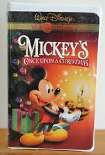 SEALED Disney GOLD Collection Mickey's Once Upon a Christmas VHS 2000 RARE