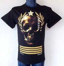 1991 Olympics YMCMB Skull NWT Mens Sz M T-Shirt 100% Cotton Black & Gold - Rare