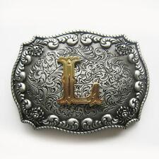 Original Western Initial Letter L Belt Buckle Gurtelschnalle also Stock in US