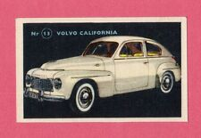 Volvo California Vintage 1950s Car Collector Card from Sweden
