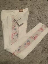 Victoria's Secret Pink Cozy High Waist 7/8 Tight Fleece Lined Legging White Sz M
