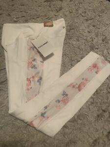 Victoria's Secret PINK Cozy High Waist 7/8 Tight Fleece Lined Legging White Sz S
