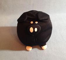 "Fourth Brother 7"" Plush Black Microbead Cow Spandex Stuffed Animal Toy EUC"