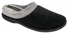 Sleepers Ladies Glenys Black Super Soft Comfort Fit Memory Foam Mule Slippers 7