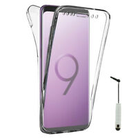 "Etui Silicone Gel ultra 360° Avant et Arrière Samsung Galaxy S9 Plus 6.2"""